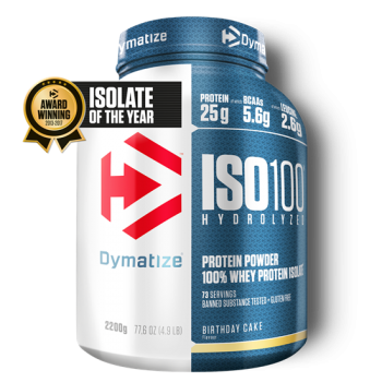 Dymatize ISO 100 Hydrolyzed 2200g Birthday Cake bei Body World Fitness Shop Basel kaufen