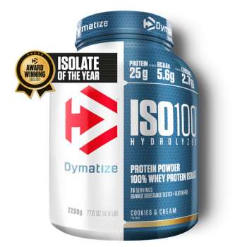 Dymatize ISO 100 Hydrolyzed 2200g Cookies&Cream bei Body World Fitness Shop Basel kaufen