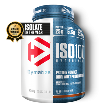 Dymatize ISO 100 Hydrolyzed 2200g Fudge Brownie bei Body World Fitness Shop Basel kaufen