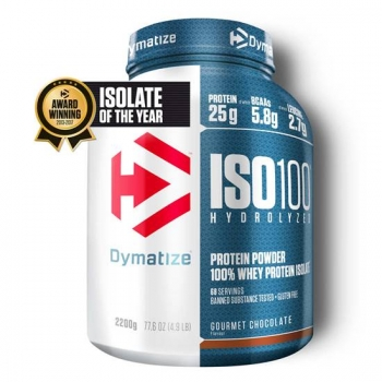 Dymatize ISO 100 Hydrolyzed 2200g Schoko bei Body World Fitness Shop Basel kaufen