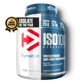 Dymatize ISO 100 Hydrolyzed 2200g Schoko-Kokos bei Body World Fitness Shop Basel kaufen