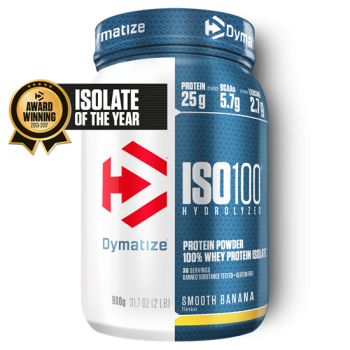 Dymatize ISO 100 Hydrolyzed 900g Banane bei Body World Fitness Shop Basel kaufen
