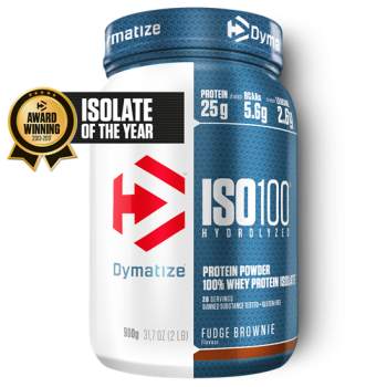 Dymatize ISO 100 Hydrolyzed 900g Fudge Brownie bei Body World Fitness Shop Basel kaufen