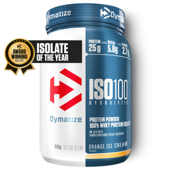 Dymatize ISO 100 Hydrolyzed 900g Orange IceCream bei Body World Fitness Shop Basel kaufen