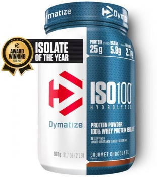 Dymatize ISO 100 Hydrolyzed 900g Schoko bei Body World Fitness Shop Basel kaufen
