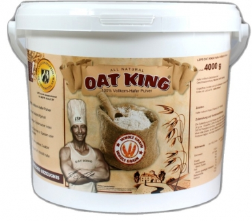 Oat King 100% Hafer-Vollkorn-Pulver - 4000g