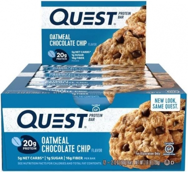 Quest Bar Protein Riegel Oatmeal Chocolate Chip bei Body World Fitness Shop Basel kaufen