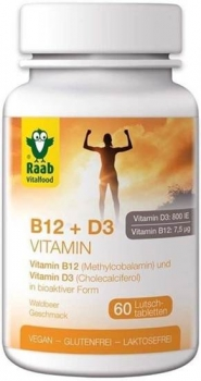 Raab Vitalfood Vitamin B12 + D3 - 60 Tabletten
