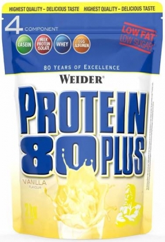 Weider Protein 80 Plus 500g Vanille bei Body World Fitness Shop Basel kaufen