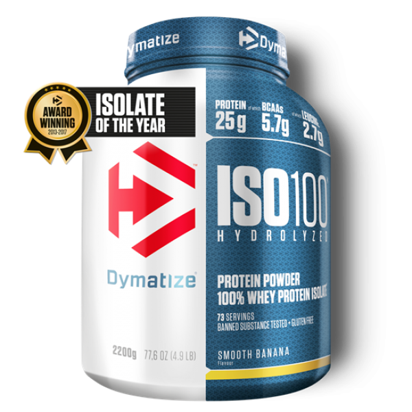 Dymatize ISO 100 Hydrolyzed 2200g Banane bei Body World Fitness Shop Basel kaufen