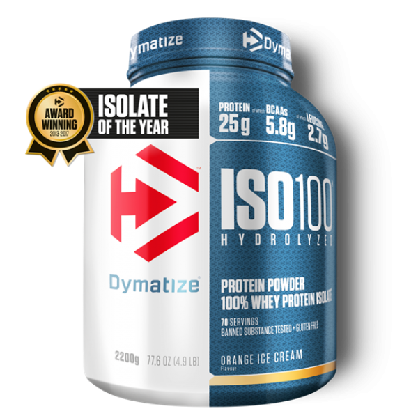 Dymatize ISO 100 Hydrolyzed 2200g Orange IceCream bei Body World Fitness Shop Basel kaufen