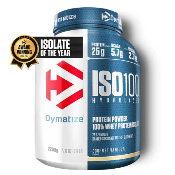 Dymatize ISO 100 Hydrolyzed 2200g Vanille bei Body World Fitness Shop Basel kaufen