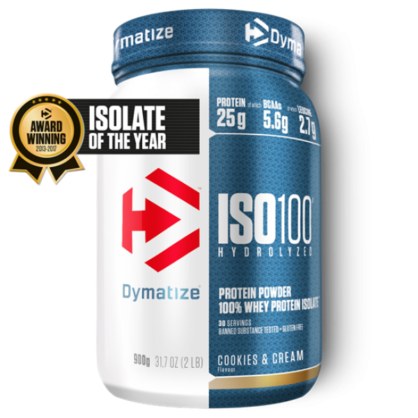 Dymatize ISO 100 Hydrolyzed 900g Cookies&Cream bei Body World Fitness Shop Basel kaufen