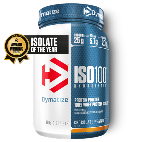Dymatize ISO 100 Hydrolyzed 900g Schoko-Erdnuss bei Body World Fitness Shop Basel kaufen