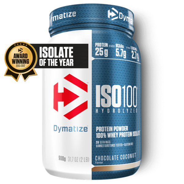 Dymatize ISO 100 Hydrolyzed 900g Schoko-Kokos bei Body World Fitness Shop Basel kaufen