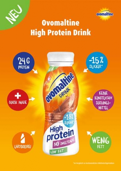 Ovomaltine High Protein Drink Informationen