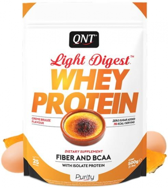 QNT Light Digest Whey Protein Pulver Creme Brulee kaufen bei Body World Fitness Shop Basel