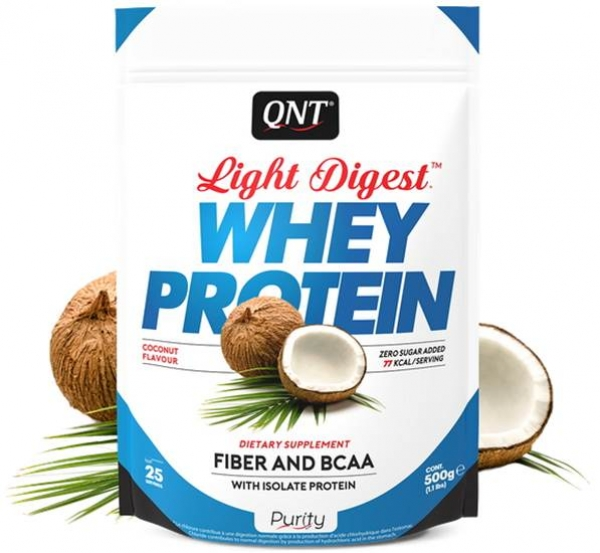 QNT Light Digest Whey Protein Pulver Kokosnuss kaufen bei Body World Fitness Shop Basel