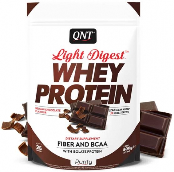 QNT Light Digest Whey Protein Pulver Schokolade kaufen bei Body World Fitness Shop Basel