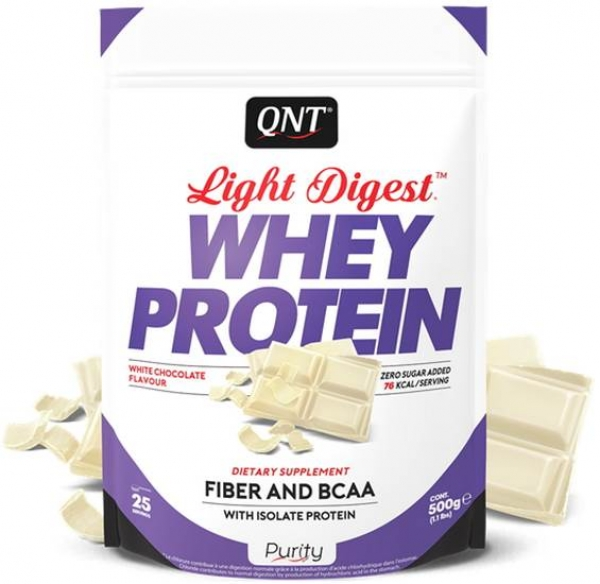 QNT Light Digest Whey Protein Pulver Weisse Schokolade kaufen bei Body World Fitness Shop Basel