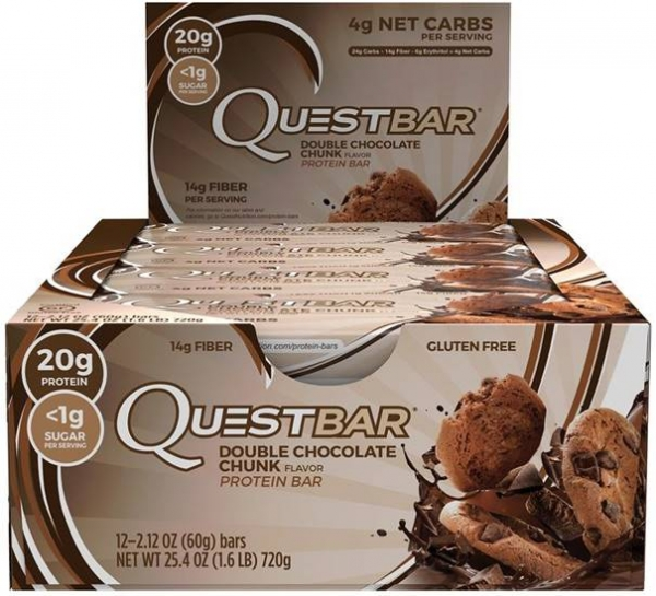 Quest Bar Protein Riegel Chocolate Double Chunk bei Body World Fitness Shop Basel kaufen