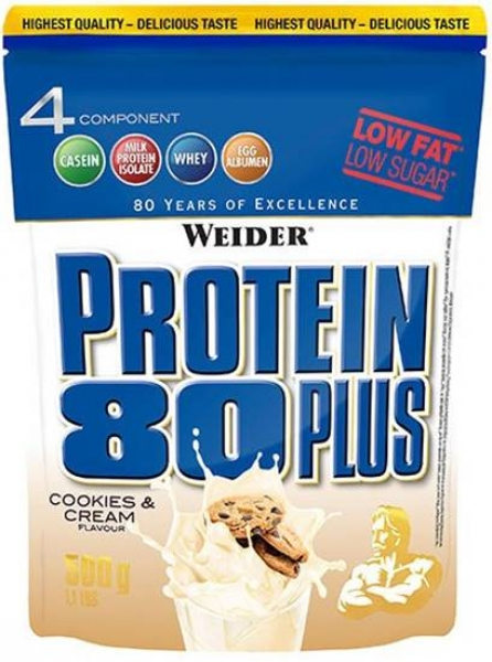 Weider Protein 80 Plus 500g Cookies&Cream bei Body World Fitness Shop Basel kaufen